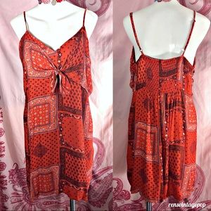 90s Little Red Bandana Dress